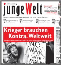 junge Welt, 31. August 2013
