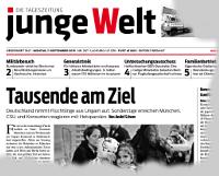 junge Welt, 7. September 2015